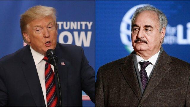 ترامپ: از عملیات نظامی خلیفه حفتر به طرابلس حمایت می کنم
