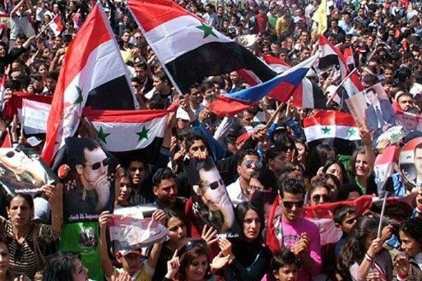 تظاهرات ضد آمریکاییِ مردم سوریه در شهرهای حلب