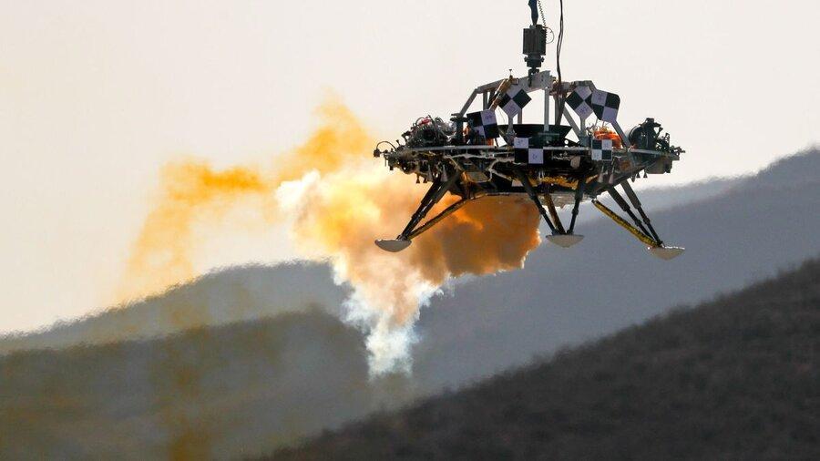 فیلم ، آزمایش پیروز مریخ نشین چین برای ماموریت 2020