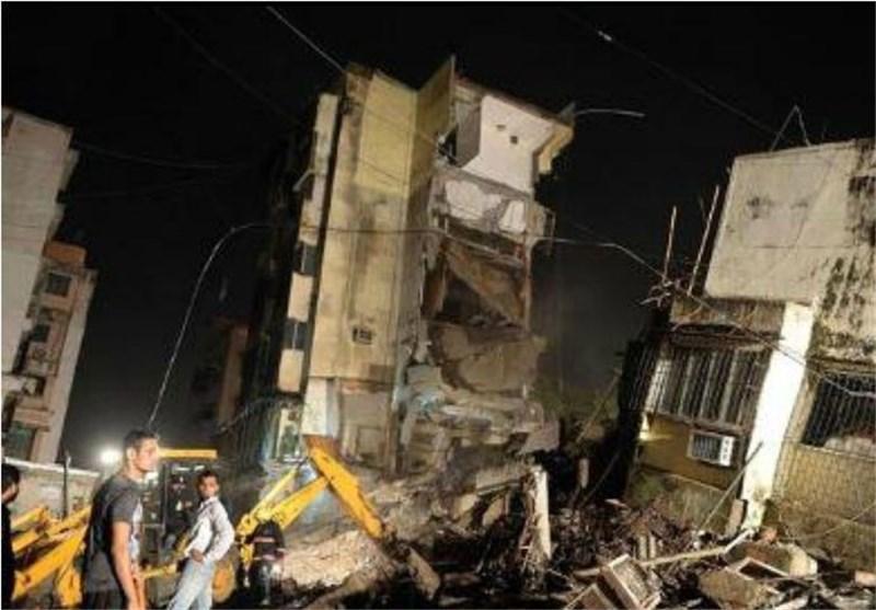 افزایش تلفات فروپاشی ساختمان در بمبئی هند به 5 نفر