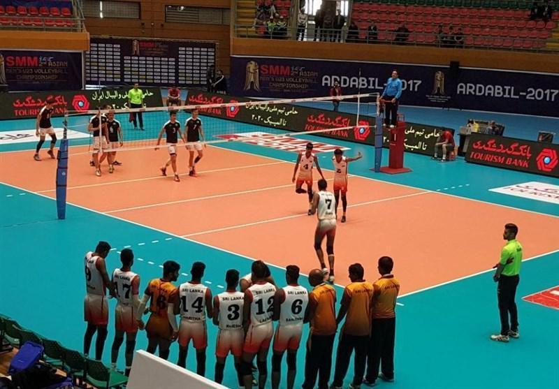 تیم والیبال امید سریلانکا مقابل ازبکستان به پیروزی رسید