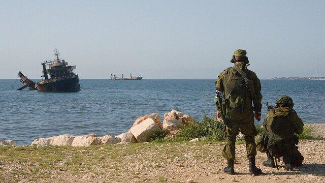 رزمایش دریایی مشترک سوریه و روسیه در بندر طرطوس