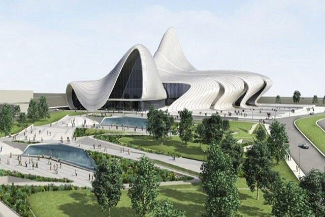 مرکز حیدر علی اف باکو جز زیبا ترین سازه های باکو
