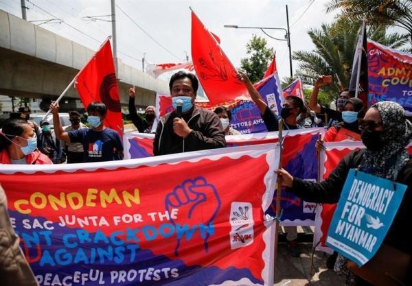 مخالفت معترضان به ارتش در میانمار به توافق با آسه آن: حق ندارید درباره ما تصمیم بگیرید