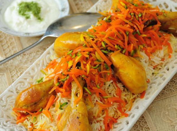 طرز تهیه هویج پلو مجلسی با مرغ به روش اصیل شیرازی